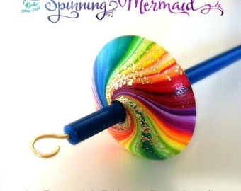 Twister drop spindle - Top whorl with gold pleated hook. Colors to choose from! 5 only