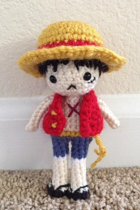 Amigurumi One Piece Doll : LUFFY Amigurumi Crochet Doll Pattern Monkey D. Luffy by Sylemn