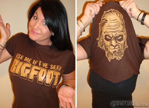 Ask Me If I\'ve Seen BigFoot T-Shirt Funny Sasquatch Big