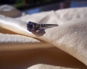 Beautiful Art Deco Amethyst Silver Ring