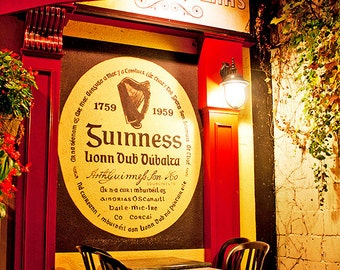 Guinness Beer, Ottawa PRINT Fine Photo Home Decor, Byward Market Heart and Crown Irish Pub, Office Bar Wall, Gift for him, Man cave Artwork