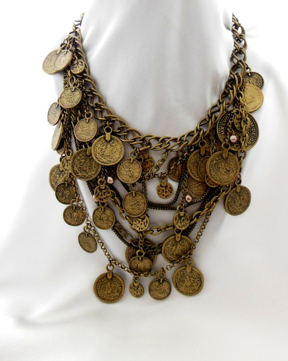Vintage Coin Bib Necklace by Chico's