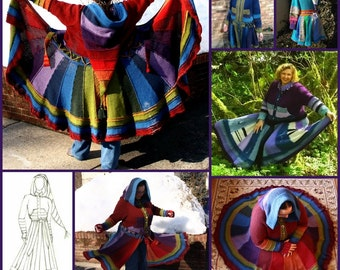 Knit Pattern: Katherine Adult Fairy Coat Pixie Coat XS~5X PATTERN ONLY