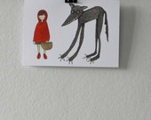 Red Riding Hood and the Wolf Greetings Card
