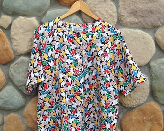 Vintage Abstract Blouse - Notations