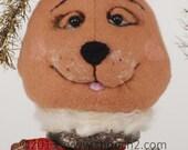 Reindeer, Rudolph, OOAK Rudy Reindeer on Vintage Textile Bobbin