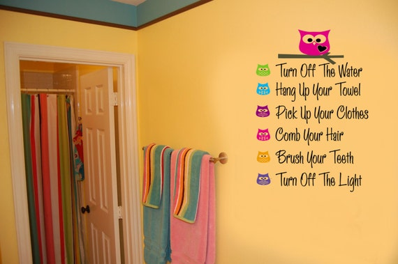 bathroom decals for kids items similar to owls bathroom bathroom vinyl 15776