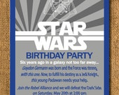 Star Wars Birthday Invitation - Printable