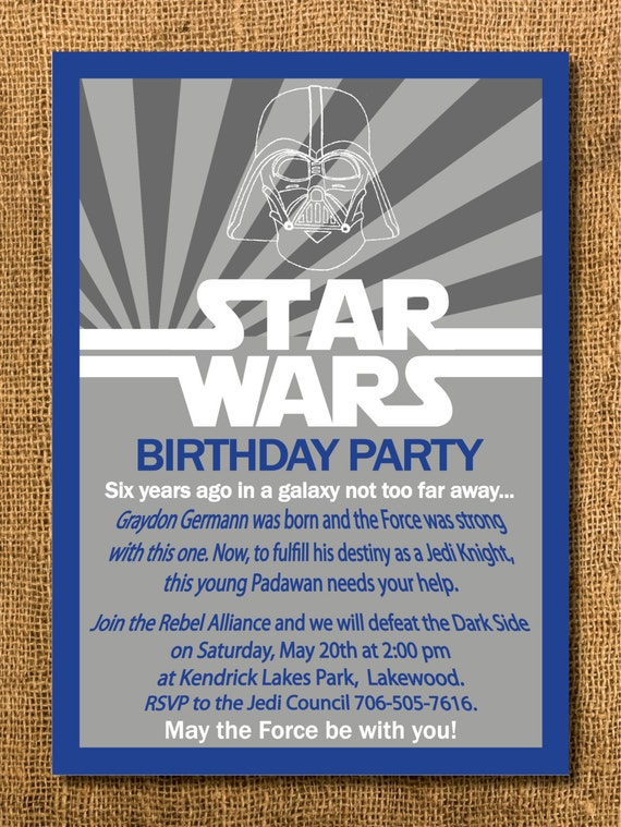 It is a photo of Nifty Printable Star Wars Birthday Invitations