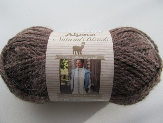 Bernat Alpaca Chunky Knitting Yarn Natural Tundra Brown