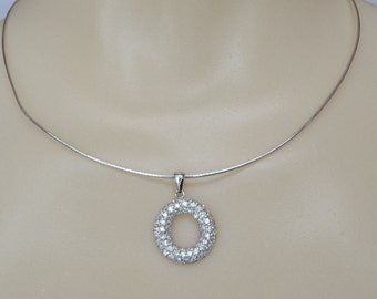 Sterling Silver Necklace CZ Eternal Love Pendant