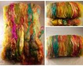 Fiber Batt, Art Batt, Fiber Art Batt for Spinning or Felting - 2.50 ounces