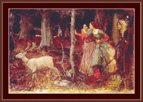 The Mystic Wood Cross Stitch Pattern /Digital PDF Files /Instant downloadable