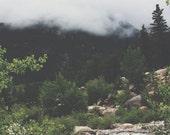 8x10 - Vintage Spring Collection - Landscape, Mountains, Fog, Nature, RMNP