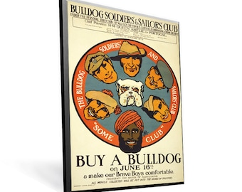 Vintage WPA Poster Buy a Bull Dog on 8x12 PopMount Ready to Hang FREE SHIPPING