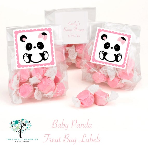 items similar to baby panda baby shower treat bag labels toppers