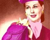 Vintage 1940s Classic Hat & Handbag Set 280 PDF Digital Crochet Pattern