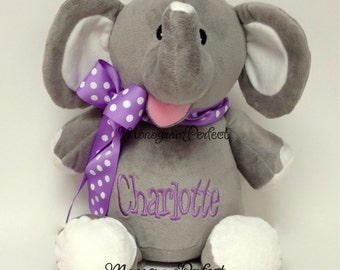 "Personalized 16"" Plush Elephant Stuffed Animal"
