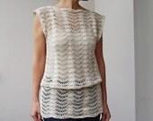 Crochet Pattern PDF crochet top woman tunic ripples top waves crochet tank top  crochet dress, beach cover up, DIY, photo tutorial