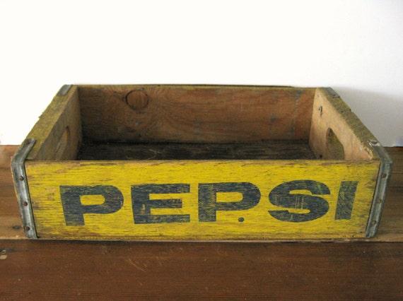 Caisse En Bois Vintage : Vintage Wood Pepsi Crate