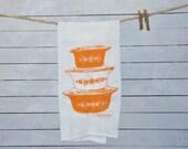Vintage Pyrex Butterfly Gold Tea Flour Sack Towel, Americana