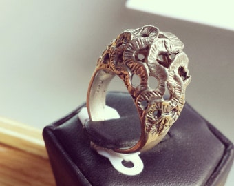 Sterling Silver Snake Pattern Ring