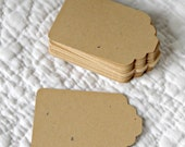 50 Caramel-Colored Recycled Card Stock Paper Tag Labels for Wedding, Altered Art, Scrapbooking, Gifts