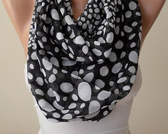 Christmas Gift Holiday Gift Dalmatians Silk Chiffon Infinity Scarf Loop Shawl Cowl Gift for Her