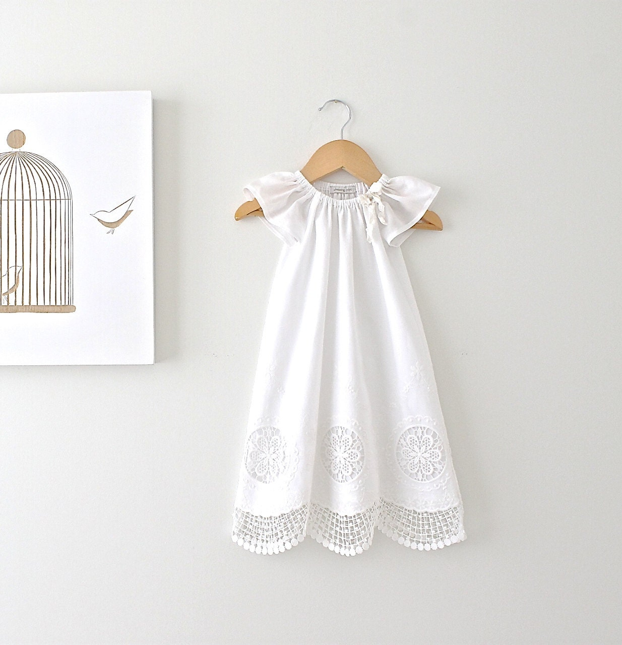 Christening Gowns. invalid category id. Christening Gowns. Showing 40 of results that match your query. Baby Boys White Detachable Gown Cotton Weaved Romper Christening Set M. See Details. Product - Baby Girls White Glitter Accent Satin Organza Bonnet Christening Gown.