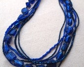 Blue multistrand statement necklace by Cerise Jewelry