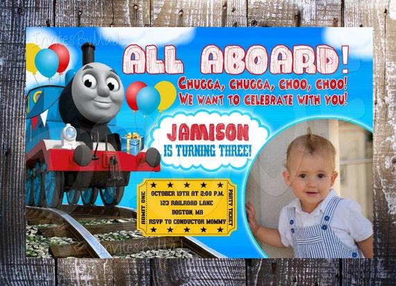 thomas the train birthday invitation by invitesbymal on etsy