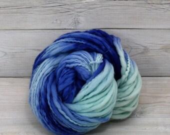 Titan - Hand Dyed Thick & Thin Merino Wool Bulky Chunky Yarn - Colorway: Laguna