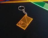 Golden Ratio Keychain Neon/Mirror