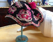 Extraordinary VINTAGE ASIAN HAT Highly collectible with beautiful handwork and embroidery