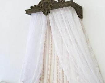 The Victoria Bed Crown / Crib Crown Canopy / Teester / Cornice / Wood Cornice