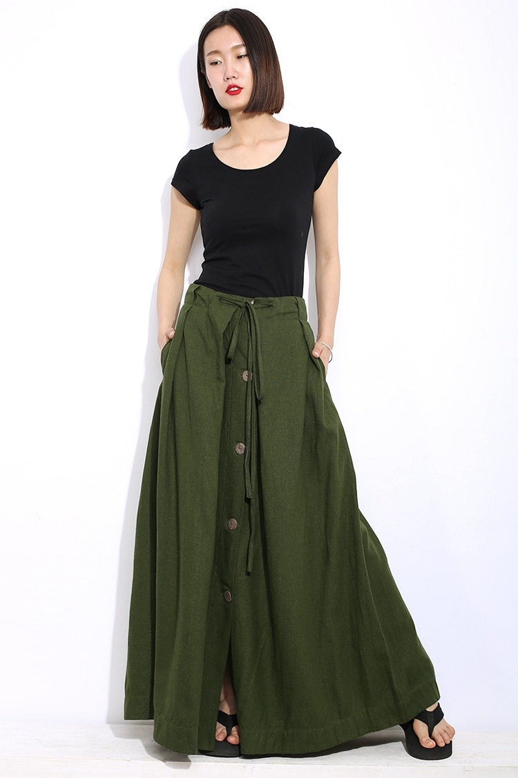 Army Green Pleated Maxi Skirt; Army Green Pleated Maxi Skirt. SKU:skirt ({{hereyfiletk.gqt_num}}) Select size Size Chart Please Select Size! XS S M L XL XXL. Waist Size (inch) inch Length (inch) inch. Waist Size (inch) inch Length (inch) inch. Waist.