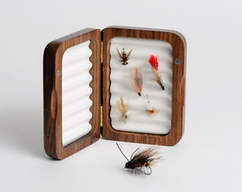 Personalized Fly Fishing Box, Father's Day Gift, Fishing Fly Box, Personalized Wood Fly Box 1 Small Fly Box
