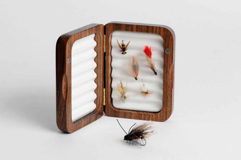 Personalized fly fishing box father 39 s day gift fishing for Unique fishing gifts
