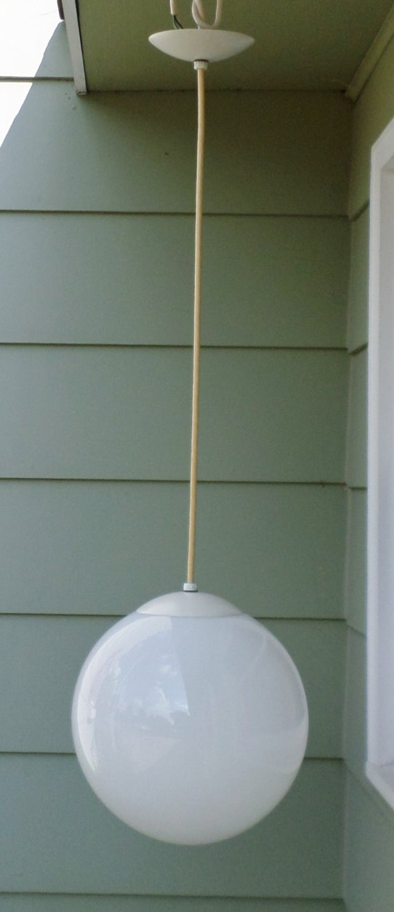 Vintage Light Fixture Large 12 Bubble Globe Mod