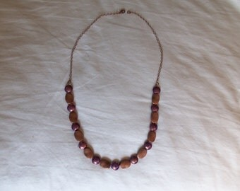 Purple and Copper Necklace