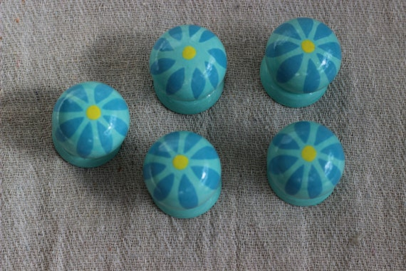 Turquoise drawer handle pulls knobs cabinet knob drawer for Turquoise cabinet pulls