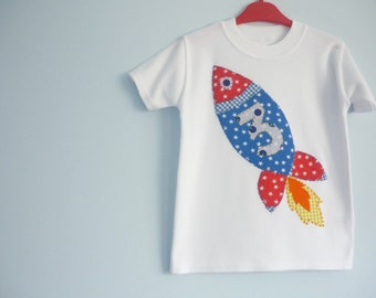 Kids birthday t shirt - Rocket t-shirt - Childrens Birthday T-shirts