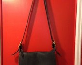 Authentic Vintage Coach Patricia's Legacy Crossbody Purse Black Leather #9951