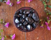 Polished Black Onyx Tumbled Healing Crystal Pocket Stone Meditation Reiki Energy Healing Protection, Stress Relief, Confidence Base Chakra