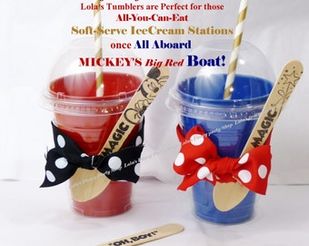 Plastic Ice Cream Drink TUMBLER- Fun & Affordable Supply for Event Favors  Disney Cruise Mickey-Smoothie-crafts / Color options for Easy DIY