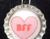 off the hook sale (set of 5) BFF Bottle Cap Pendant neckalces Geocaching swag birthday party favors