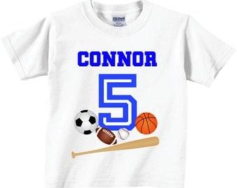 Sports Birthday Shirts Sports Birthday Tshirts for any Age or Birthday