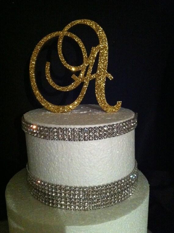 Etsy Monogram Cake Topper