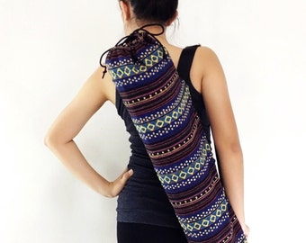 Handmade Yoga Mat Bag Yoga Bag Sports Bags Tote Yoga Sling bag Pilates Bag Pilates Mat Bag Woven Yoga Bag Women bag Woven Cotton bag (WF17)