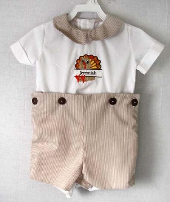 Thanksgiving Baby Clothes Boy